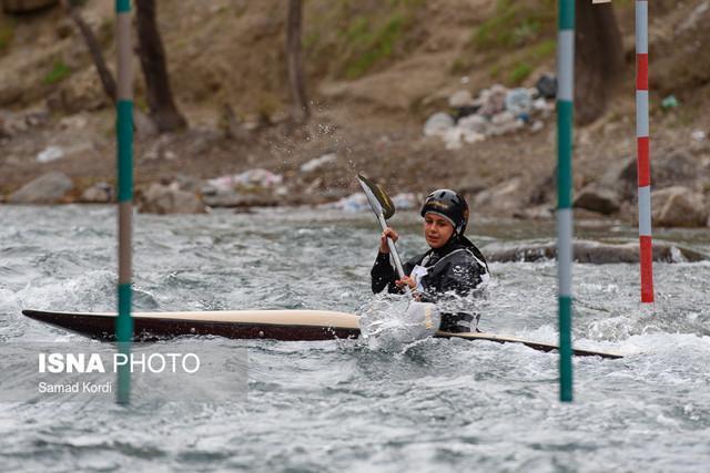 مسابقات انتخابی قهرمانی قایقرانی اسلالوم بانوان کشور در ساوه برگزار گشت