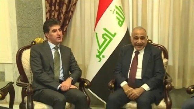 نیچروان بارزانی با عبدالمهدی و برهم صالح در بغداد ملاقات کرد