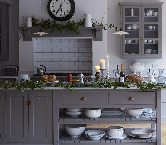 دکوراسیون آشپزخانه مدرن با رنگ خاکستری