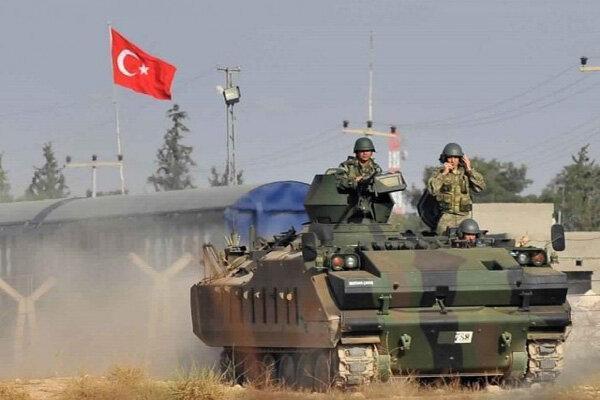 حملات توپخانه ای ارتش ترکیه علیه مواضع ارتش سوریه