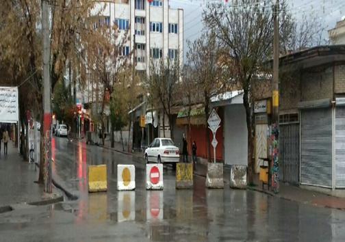 خیابان و میادین اصلی شهرستان مهاباد مسدود شدند
