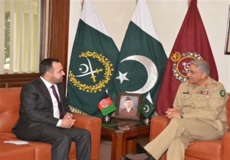 دیدار سفیر افغانستان در اسلام آباد با فرمانده ستاد ارتش پاکستان