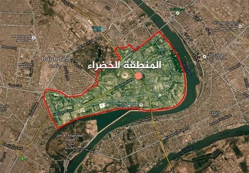 اصابت موشک به ورودی منطقه الخضراء بغداد