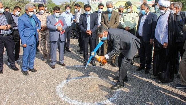عملیات احداث دومین مدرسه خیریه اتاق کرمان در بم شروع شد