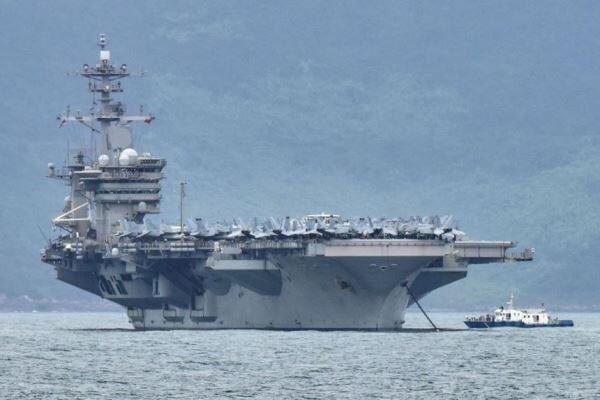 ورود غیرقانونی ناوجنگی آمریکا به آب های سرزمینی چین